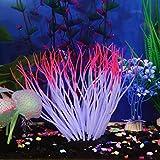 Upxiang Silikon Koralle Aquarium, Fisch Tank Künstliche Koralle Pflanze, Weiche Silikagel Koralle, Bau der simulierten Saugfußfisch Tank Koralle, Unterwasser Ornament Dekor Gartendekoration (A)