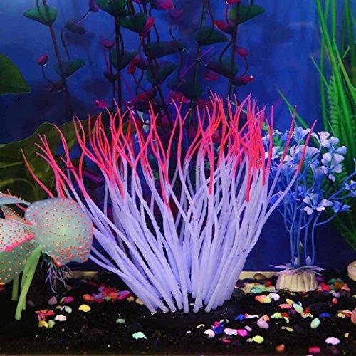 Upxiang Silikon Koralle Aquarium, Fisch Tank Künstliche Koralle Pflanze, Weiche Silikagel Koralle, Bau der simulierten Saugfußfisch Tank Koralle, Unterwasser Ornament Dekor Gartendekoration (A) (Fisch-aquarium Pflanzen)