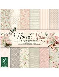 Dovecraft Floral Muse 6 x 6 FSC-Papierset, Mehrfarben