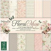 "Dovecraft Paper Pack 6""X6"" 72/Pkg-Floral Muse"