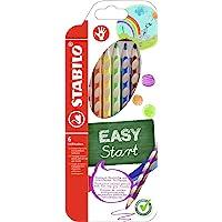 Crayon de coloriage - STABILO EASYcolors - Pochette de 6 crayons de couleur ergonomiques - Droitier