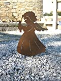 Engel mit Kerze auf Platte 24 x 35 cm