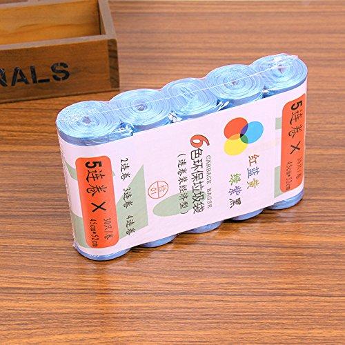 Readycor (TM) 5rolls da cucina trash spazzatura Sacchetti Spazzatura secchio Trash Can Strumenti di pulizia di buona qualità B2 Blue Blue