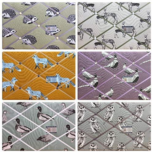 7b293b0cc77e7 Custom Handmade Bespoke Pin/memo/Notice/Photo Cork memo board Prestigious  Nature Fabrics Choice of Colours and Sizes