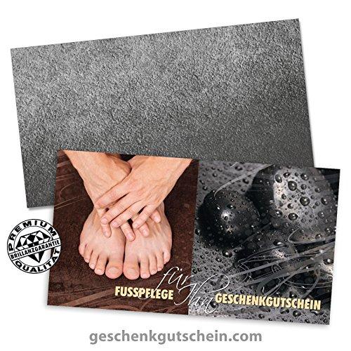 50 Stk. Hochwertige Gutscheinkarten Geschenkgutscheine + 50 Stk. Kuverts für Fußpflege, Pediküre, Maniküre für Männer FU1227, LIEFERZEIT 2 bis 4 Werktage!