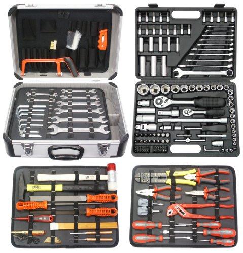 Famex 719-50 Mechaniker-Werkzeugkoffer-Komplettset mit Steckschlüsselsatz, 207-teilig
