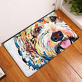 Doormat inside,Artistic9(TM) Anti-slip Door Floor Mats Dog Pattern Rugs for Your Hallway,Bathroom,Indoor and Outdoor Areas-40X 60 cm (L)