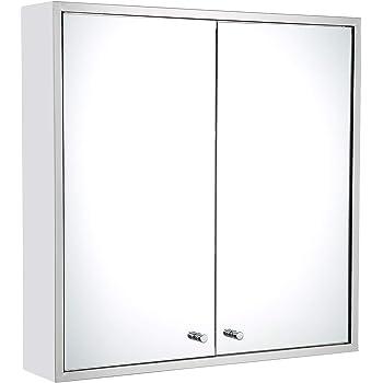 Mecor 48 X 48 Stainless Steel Double Door Bathroom Mirror Cabinet Enchanting Bathroom Cabinet Mirrored