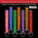 Large - Perlrohr LED-Licht Boden Neuheit Lampe mit Fisch, Bälle - 105cm - White - Neue High Quality Model
