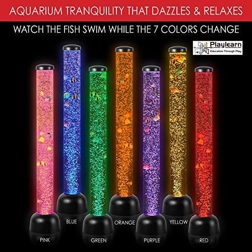 LARGE - Perlrohr LED-Licht Boden Neuheit Lampe mit Fisch, Bälle - 105cm - WHITE - NEUE HIGH QUALITY MODEL -