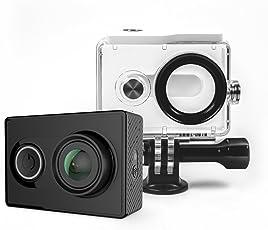 YI Action Kamera gebündelt mit Wasserfestem Gehäuse 16MP 2K 1080P/60fps mit 2.4G WIFI Bluetooth 4.0