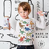 Kids Colour In Top - Dinosaur
