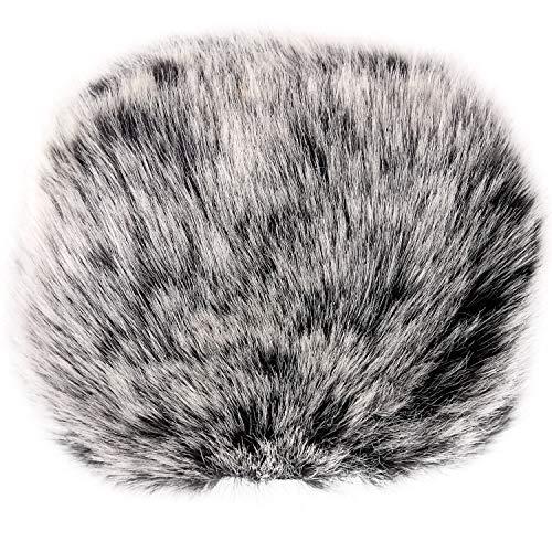 ChromLives Outdoor Microfono Peloso Muff del Parabrezza per Zoom H6 Mic Parabrezza Copertura del Vento per Zoom H5 H6 e Altro, Bianco e Nero