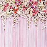8x8ft Schöne Blume Hochzeit Dekoration Fotografie Hintergrund YJ-081