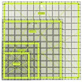 ARTEZA Patchwork-Lineal | 4.5 x 4.5, 6 x 6, 9.5 x 9.5, 12.5