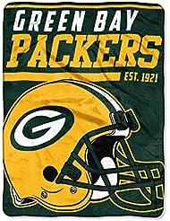 NFL Packers de Green Bay 36,6m Dash Micro Couvre-lit Motif, 116,8x 152,4cm, Vert foncé