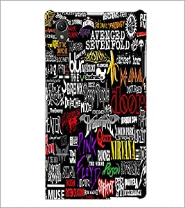 PrintDhaba Typography D-4588 Back Case Cover for SONY XPERIA Z1 (Multi-Coloured)