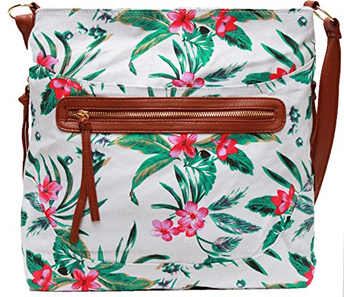 Other, Borsa a spalla donna Large Tropical Off White