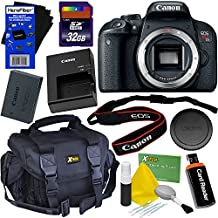 Canon Eos Rebel T7i Digital SLR Camera (Body Only) International Version + 32GB SD Memory Card + Large Case + Accessory Kit W/HeroFiber Ultra Gentle Cleaning Cloth
