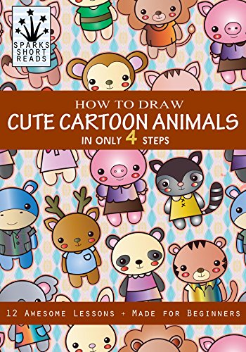 How To Draw Cute Cartoon Animals In Only 4 Steps Step By Step