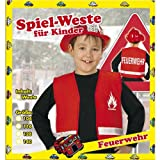 Weste Feuerwehr Kinder Rot Gr. 104