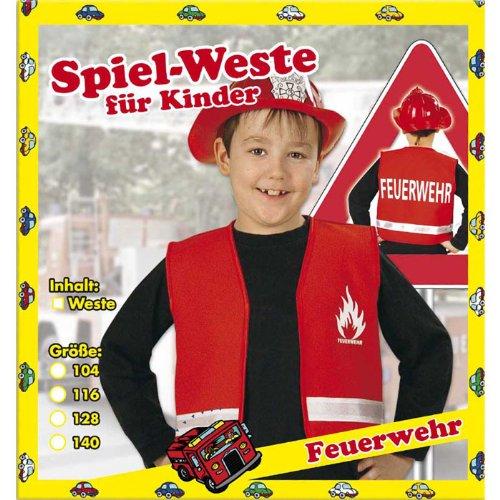 Weste Feuerwehr Kinder Rot Gr. ()