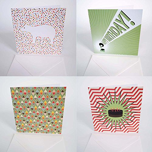 Bright Stem Greeting Cards And Envelopes Mixed Pack 12 Birthday
