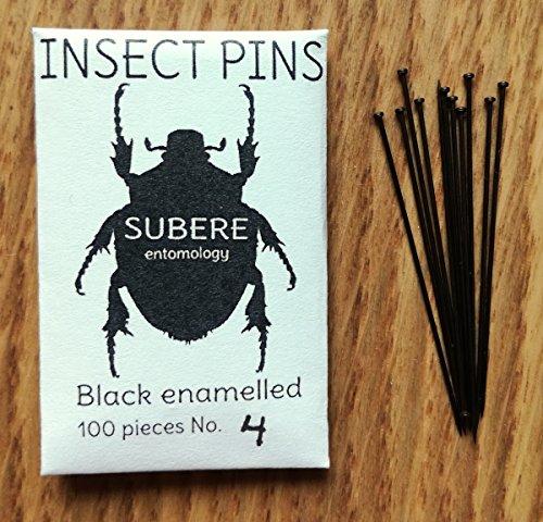 Subere Entomology Insekten-Befestigungsstifte, Größe 4, 100 Stück