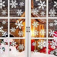 GOEU Pegatina Copo de Nieve de la Navidad,Calcomanías de Ventana Copos De Nieve Blanco Pegatinas Pared Estáticas de PVC para Navidad Decoraciones