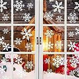 GOEU Natale Fiocchi Neve Adesivi Decoration Noel Inverno Decorazione Adesivi vitres-amovibles statiche in PVC Atmosfera Romantica di Chrismas Adesivi fenetre.