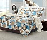 Groenland Maison 3pièces Beachcomber Parure de lit, Full/Queen, Multi