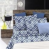 Italian Bed Linen Fantasy Completo Letto, Microfibra, Rombi, A una Piazza e Mezza