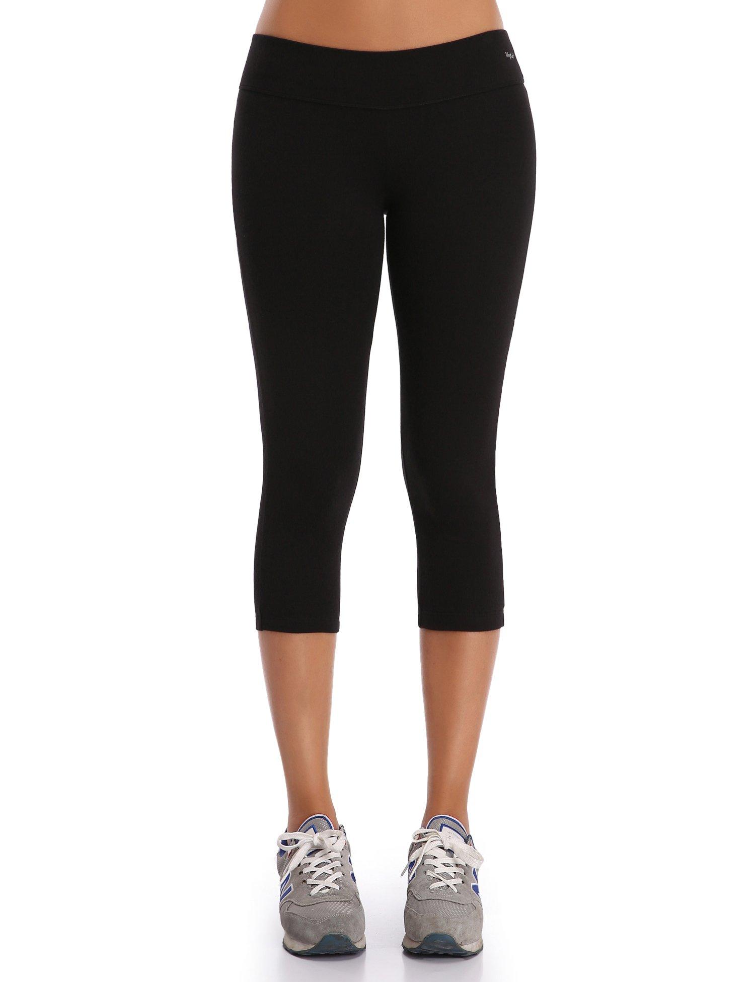 61 GmHTRh6L - WingsLove Women's Yoga Workout Capri Pants Sports Running Tights Leggings
