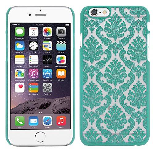 XAiOX® iPhone 6 Schutzhülle Embossed Blumen Paisley Muster in schwarz türkis