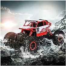 Arshiner Coche Todoterreno con Control Remoto Vehículo Teledirigido 2.4Ghz 4WD Coche 1:18 con Baterías Juguete RC para Niños, Rojo