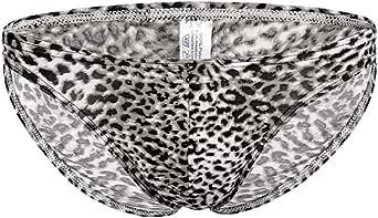ONEFIT Men's Leopard Seamless Low Waist Flat Bikini Briefs Underwear Pants