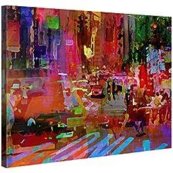 Premium Leinwanddruck 100x75cm – Big City Life – XXL Kunstdruck Auf Leinwand Auf 2cm Holz-Keilrahmen – Handgemachte Fotoleinwand In Deutsche Markenqualität Für Schlaf- Und Wohnzimmer Von Gallery Of Innovative Art