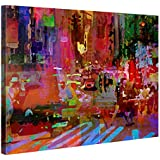 Impression Giclée sur Toile en Grand Format – Big City Life – 100x75cm - Photo sur Toile de Tendue sur Châssis en bois – Tableau Artistique Contemporain – Image Déco d'Art Murale Prêt à Accrocher