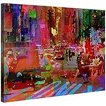 Gallery Of Innovative Art Tableau Décoration Murale 100x75cm   Big City  Life   Impression Sur Toile