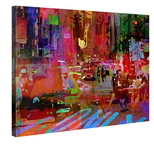 Gallery of Innovative Art Premium Leinwanddruck 100x75cm - Big City Life - XXL Kunstdruck Auf Leinwand Auf 2cm Holz-Keilrahmen Für Schlaf- Und Wohnzimmer