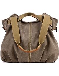 Groß Canvas College Bag Damen Shopper Bag Schultertasche Segeltuchtasche