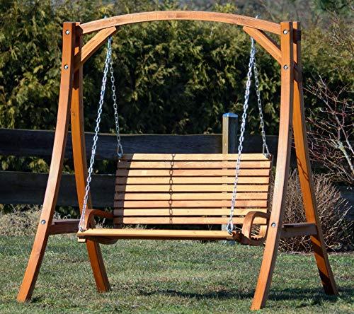 Design Hollywoodschaukel Gartenschaukel Hollywood Schaukel KUREDO-OD aus Holz Lärche von AS-S - 2