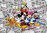 AG Design FTD 2225  Disney Mickey Mouse, Papier Fototapete - 360x254 cm - 4 teile, Papier, multicolor, 0,1 x 360 x 254 cm