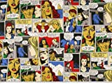 Zanderino ab 1m: Dekostoff,Comic, multicolor, 140cm breit