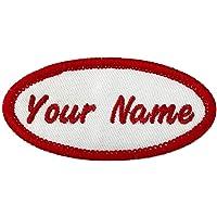 Toppa Personalizzata con Nome Ovale, 2 Pezzi di targhetta Personalizzata con Nome Ricamata da Cucire/Stirare per…