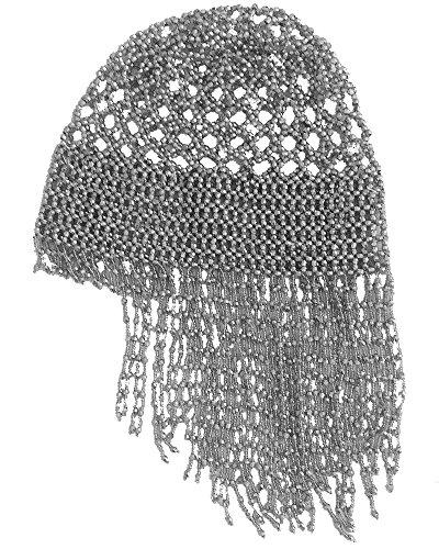 Silber Performance Stammes Kleopatra Halloween Kopf Schmuck Glänzender Hut Perlen-Kappe