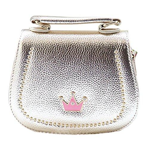 Happy-Cherry-Kleines-Mdchen-Tasche-Kinder-Umhngetasche-Mode-Frauen-Schultertasche-PU-Leder-Handtasche-Mit-Kaiserkrone-Verstellbarer-Schultergurt-Taschen-Kindertasche-Girls-Bag-16-6-12cm-Gold