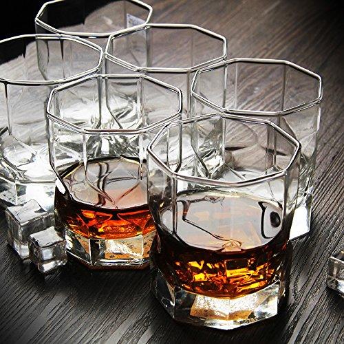 JXC-Plaza 6 vaso de vino, jarra de cerveza, whisky, CRISTAL, 300ml taza...