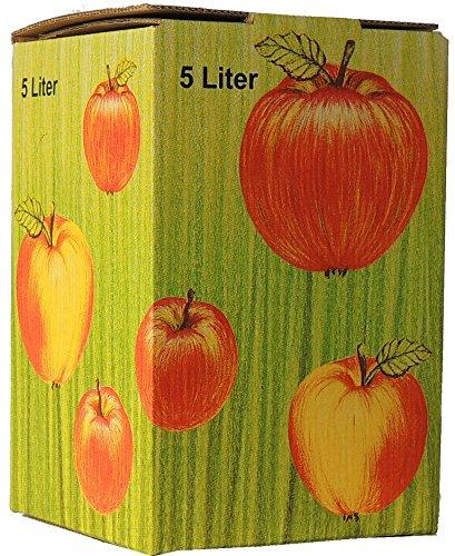 10Stück 5 Liter Bag in Box Karton in Apfeldekor (Apfelsaft-kartons)