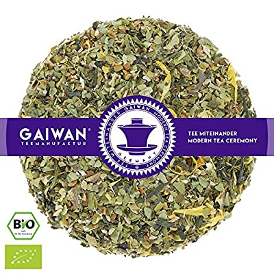 """N° 1327: bio """"Énergie maté (chimarrão)"""" - feuilles de thé issu de l'agriculture biologique - GAIWAN® GERMANY - yerba maté vert, gingembre, thé vert de Chine, menthe de épi marocaine, réglisse, citron, cassia, poivre noir, souci"""